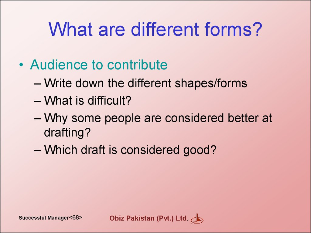 What are different forms?