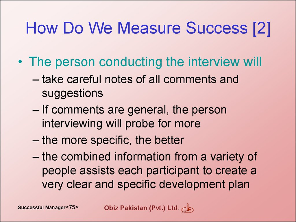 How Do We Measure Success [2]