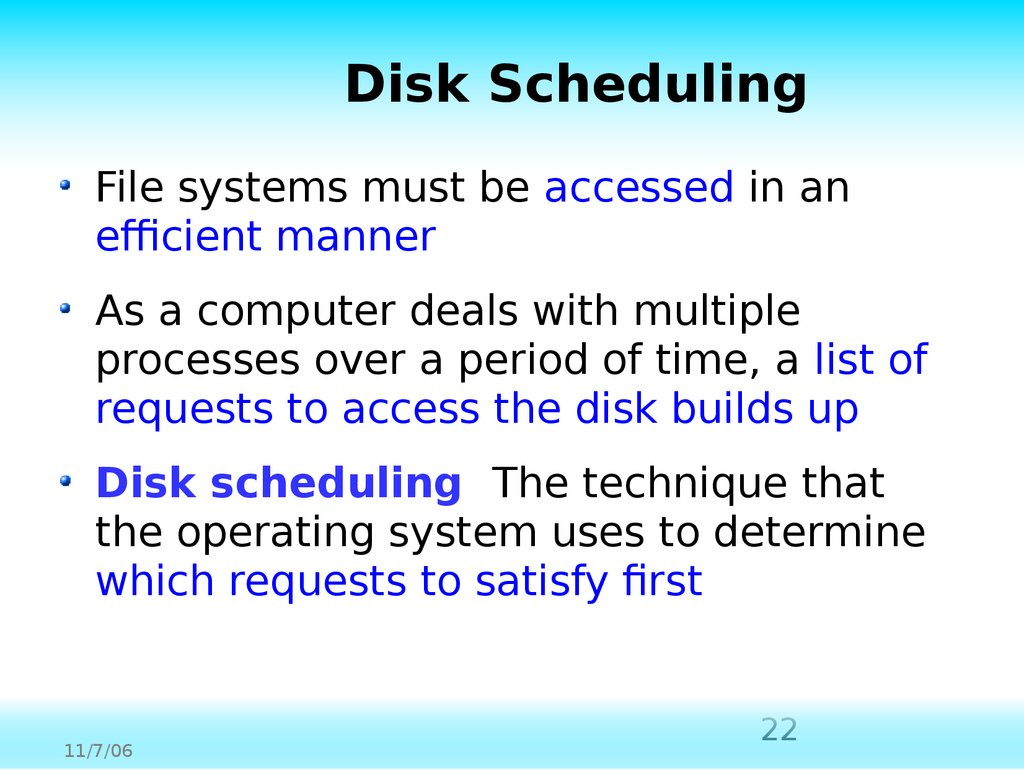 File systems and directories  (Chapter 11) - online presentation