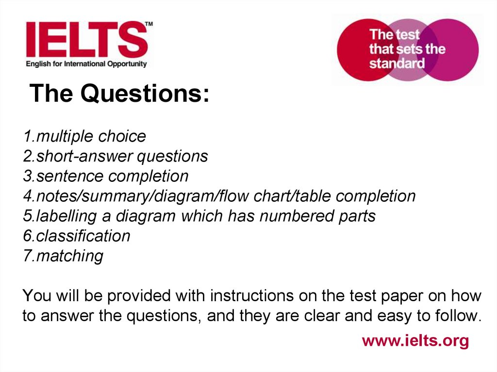 Preparing students for ielts academic module listening online the questions multiple ccuart Gallery