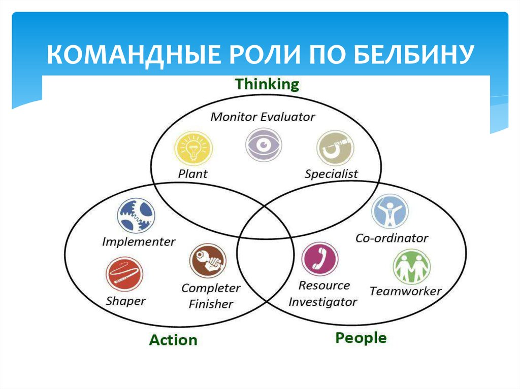 belbins theort Different roles needed for the team can be explained through belbin's team roles theory specifically belbin (1993) divides roles within teams into the following nine categories.
