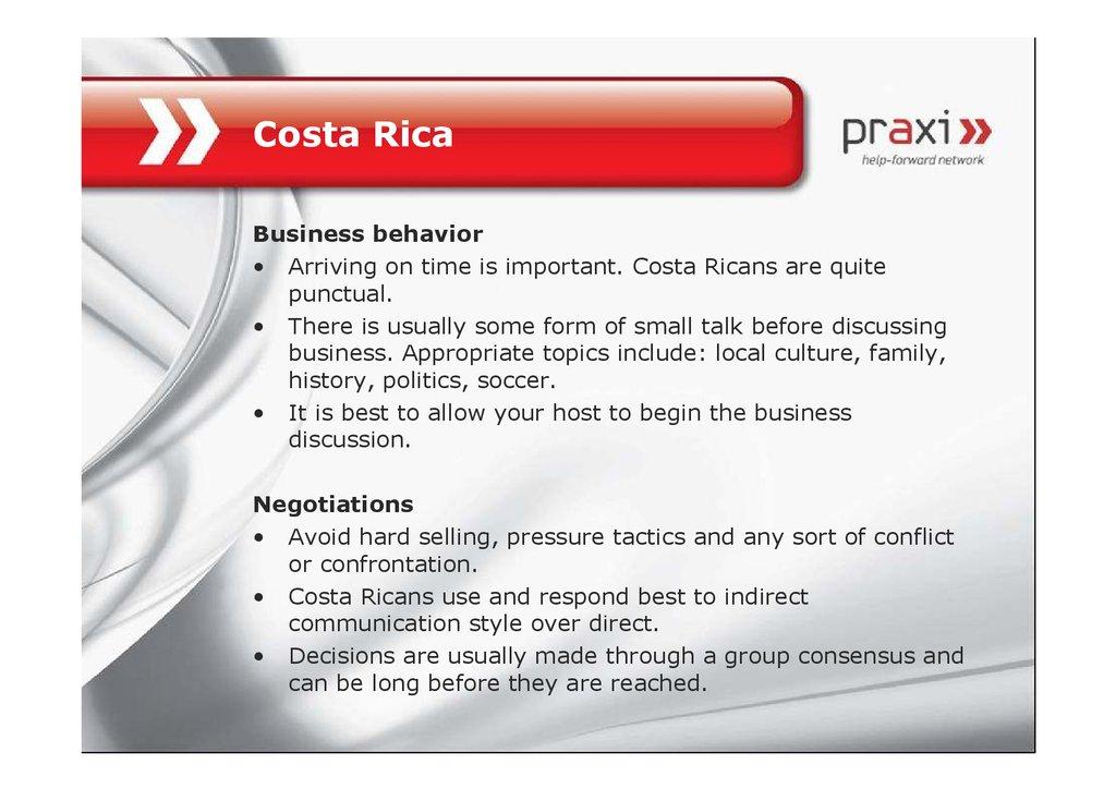 Intercultural business etiquette - online presentation