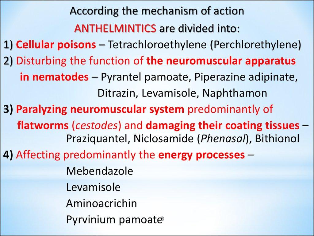 Antiprotozoal and anthelmintic - primariacetateni.ro