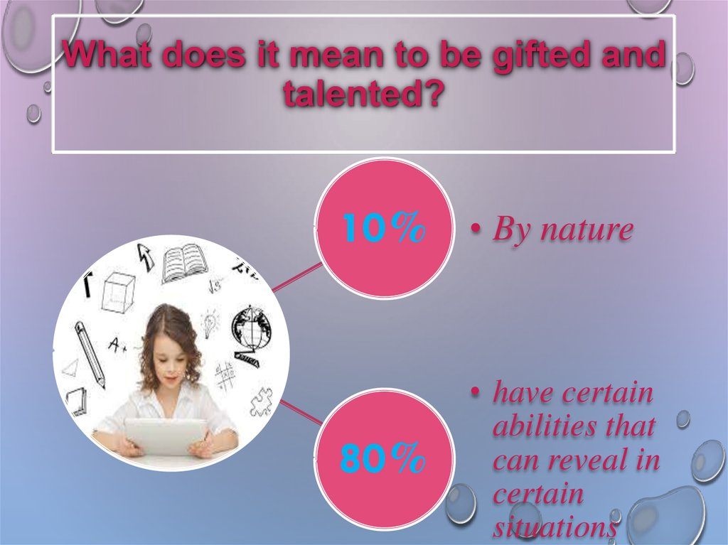 What does it mean to be gifted and talented?