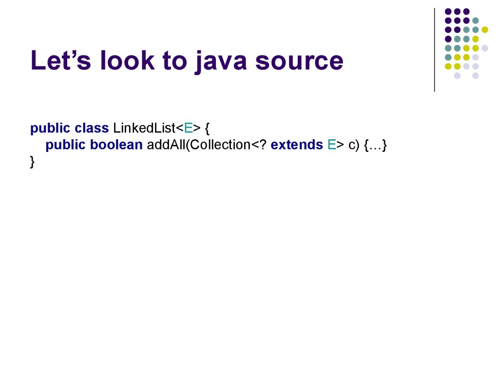 Let's look to java source