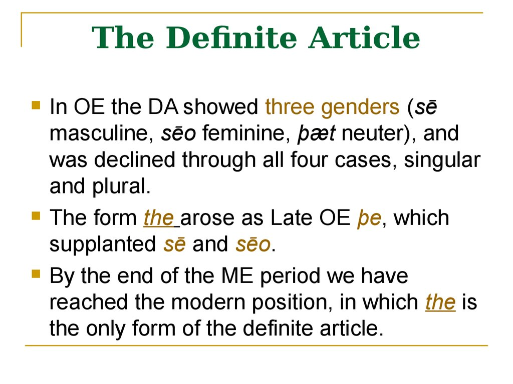 The Definite Article