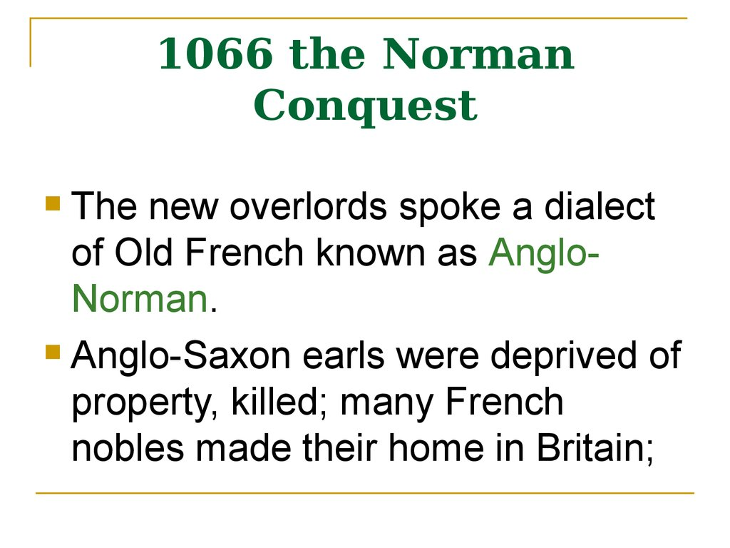 1066 the Norman Conquest
