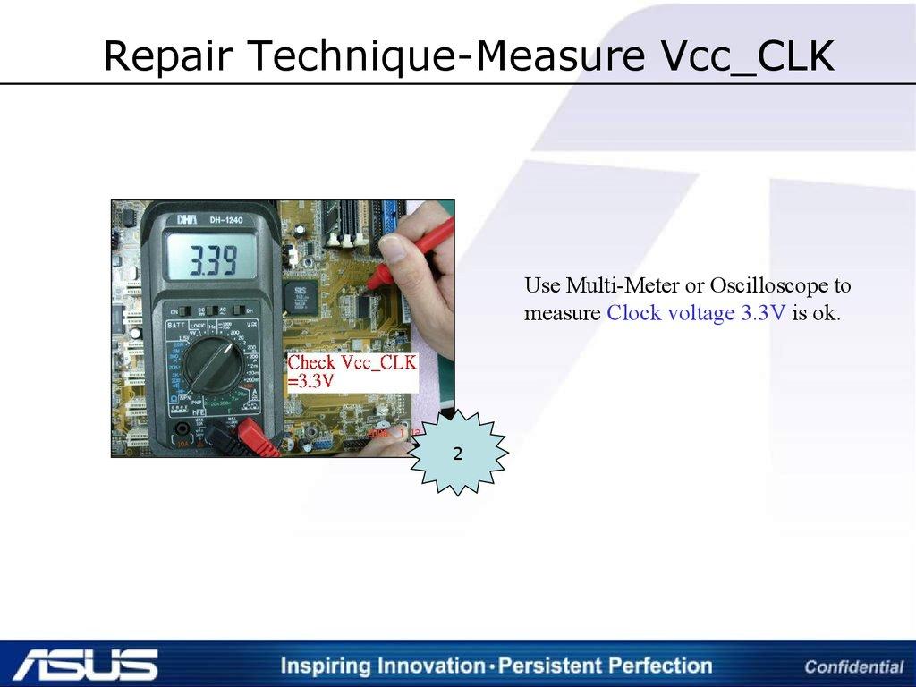 Asus Repair  Clock   Lesson 2