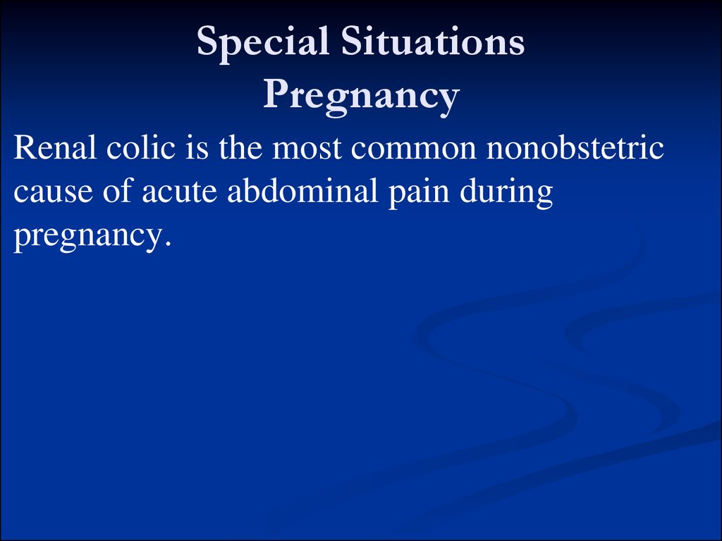 Special Situations Pregnancy
