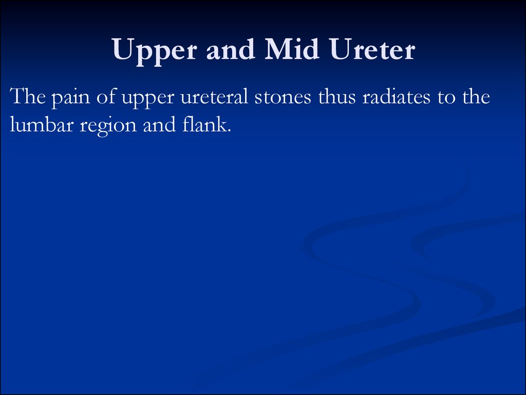 Upper and Mid Ureter