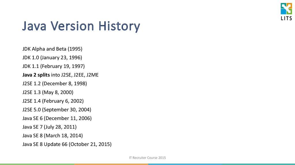 Java Version History