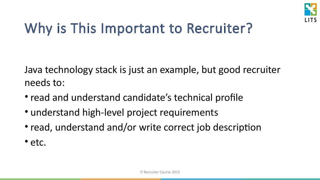 Why is This Important to Recruiter?
