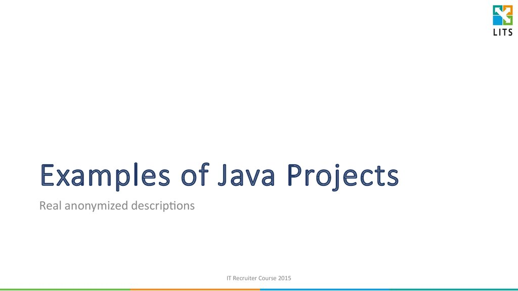 Examples of Java Projects