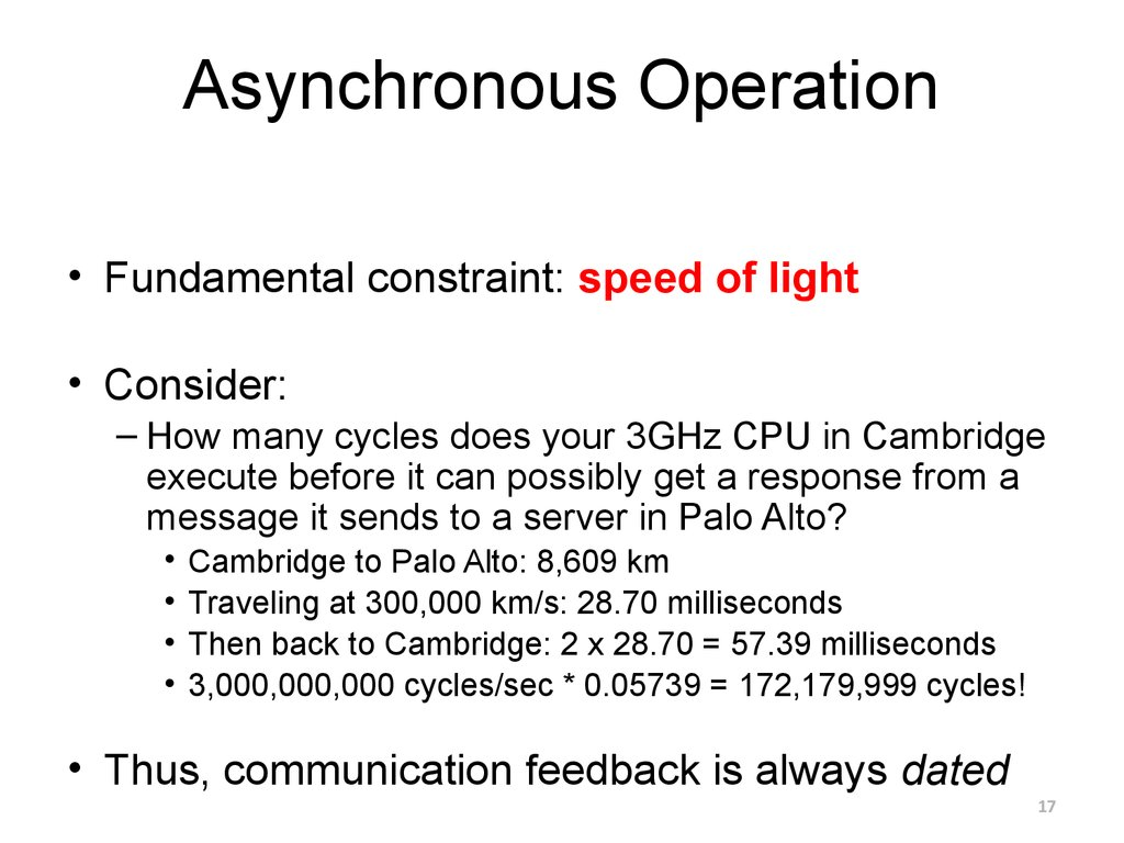 Asynchronous Operation