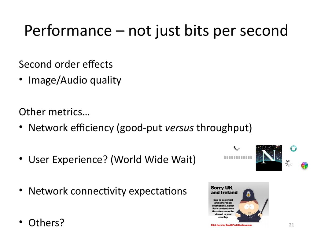 Performance – not just bits per second