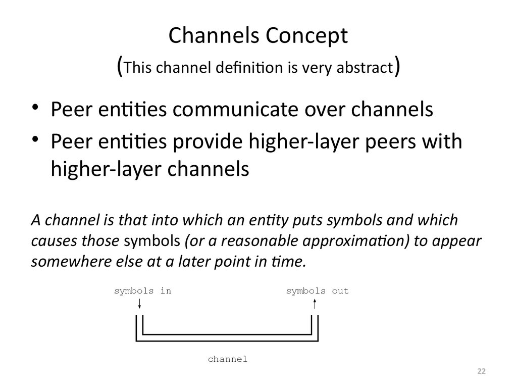 Channels Concept (This channel definition is very abstract)