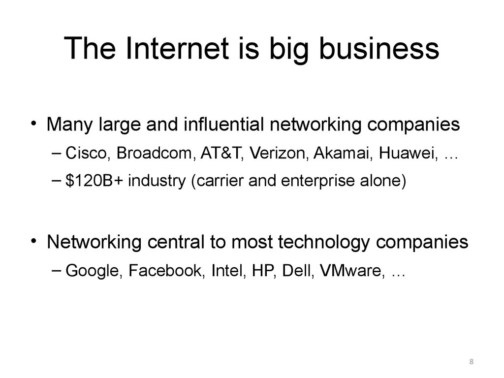 The Internet is big business