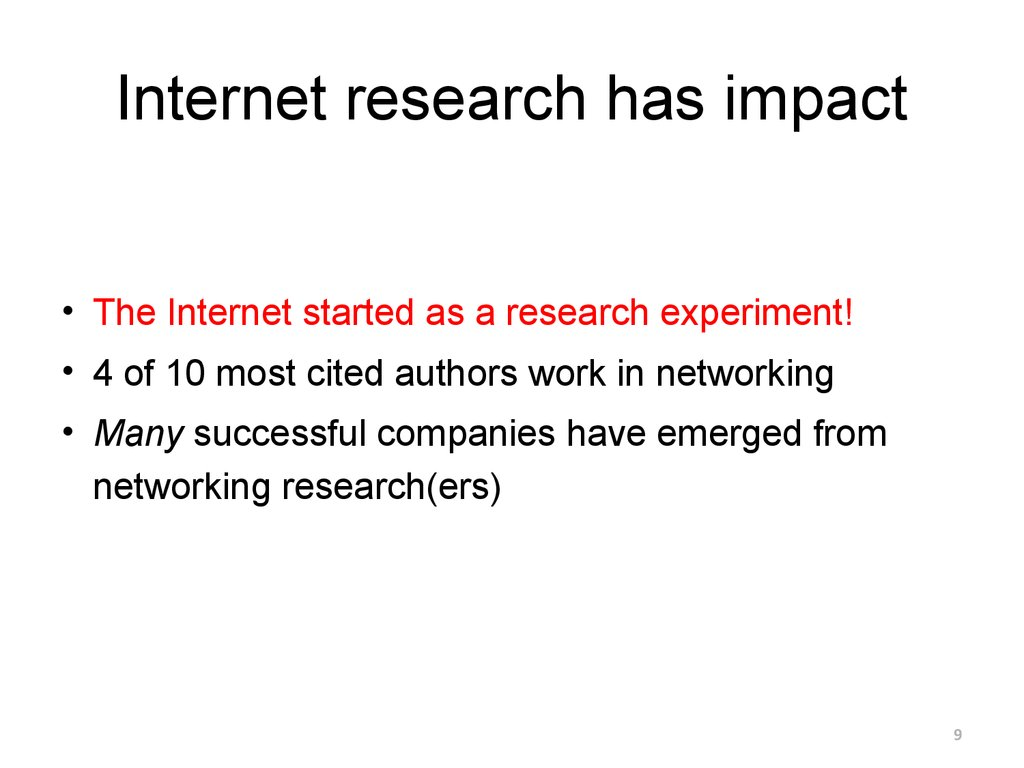 Internet research has impact