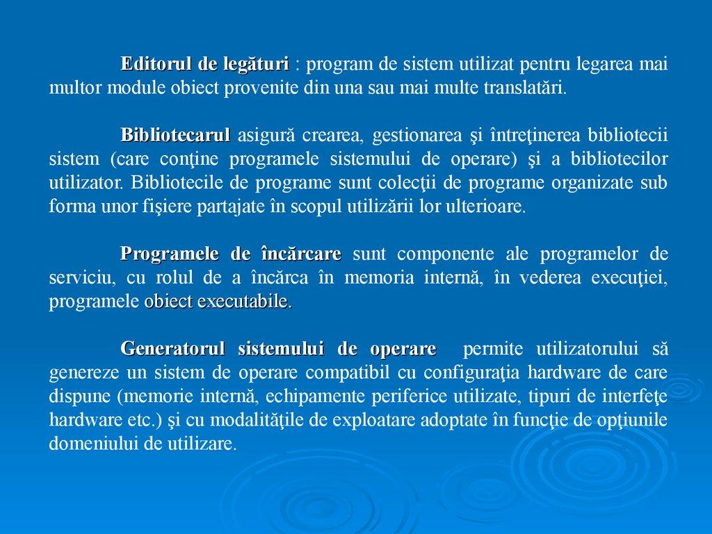 program pentru niveluri de opțiuni