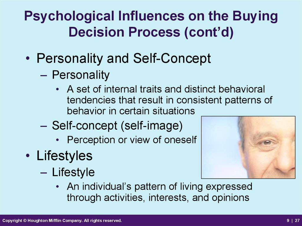 influence of the psychological core factors o consumer decision process International journal of psychology and psychological therapy 2007, 7, 3, 381-391 factors that affect decision making: gender and age differences.