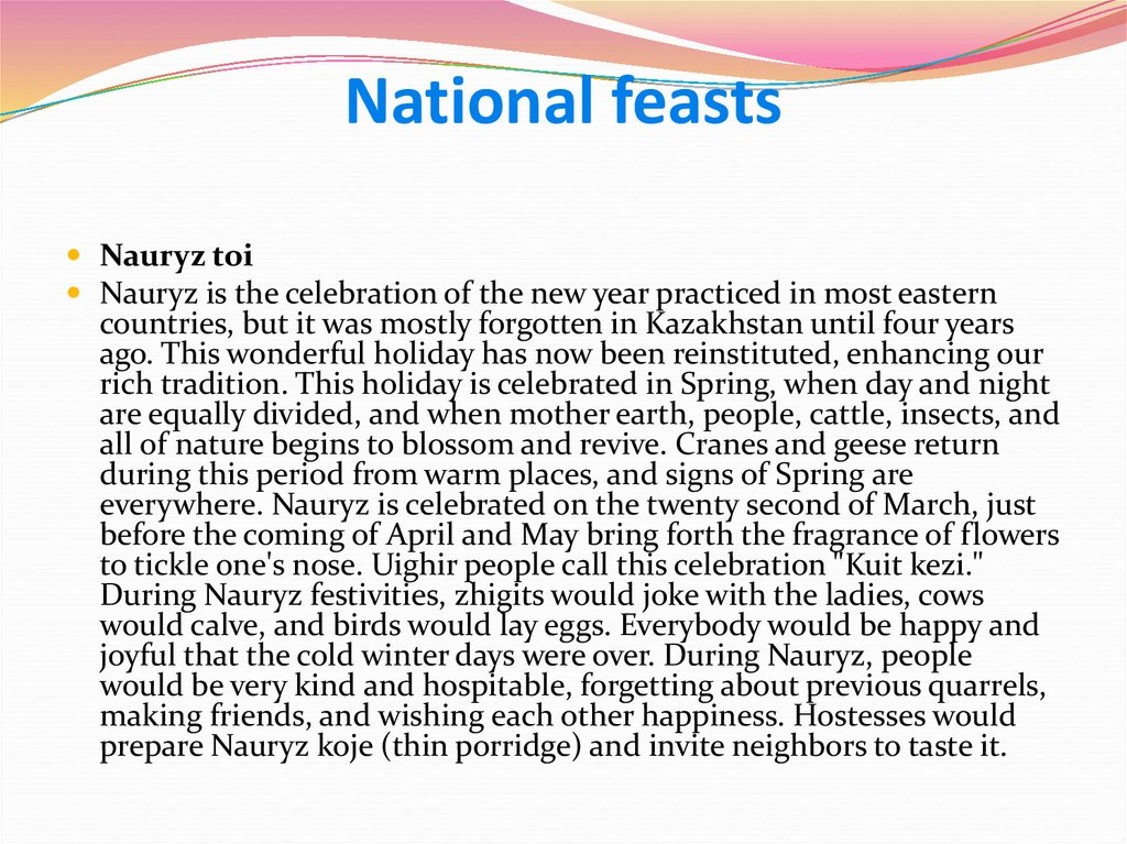 National feasts