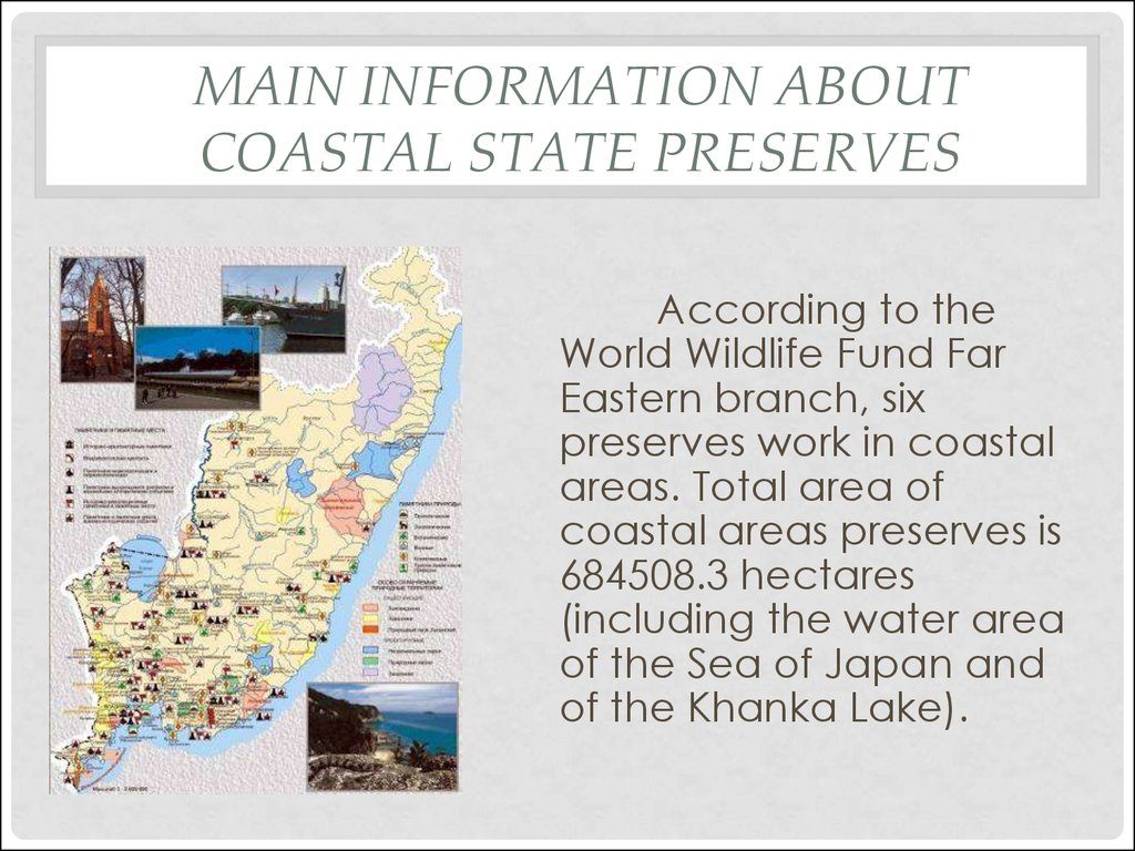 Main Information about coastal state preserves
