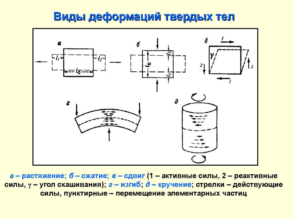Виды деформации твёрдых тел