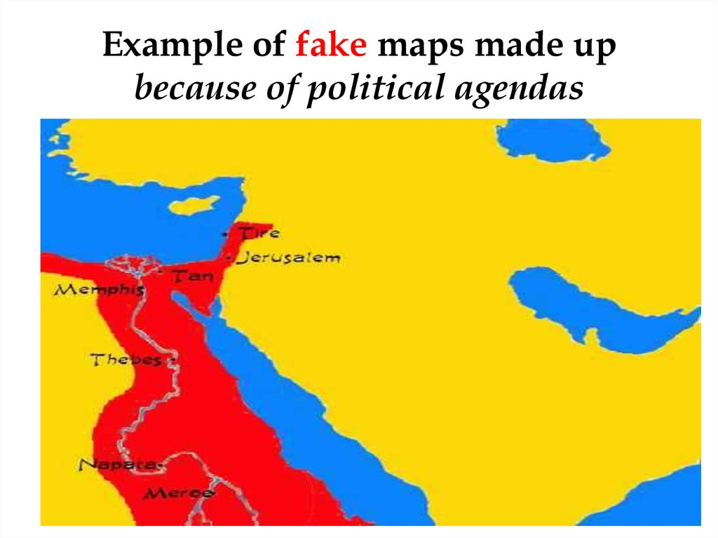 Example of fake maps made up because of political agendas