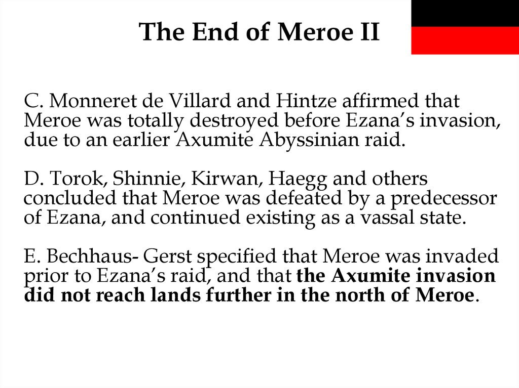 The End of Meroe II