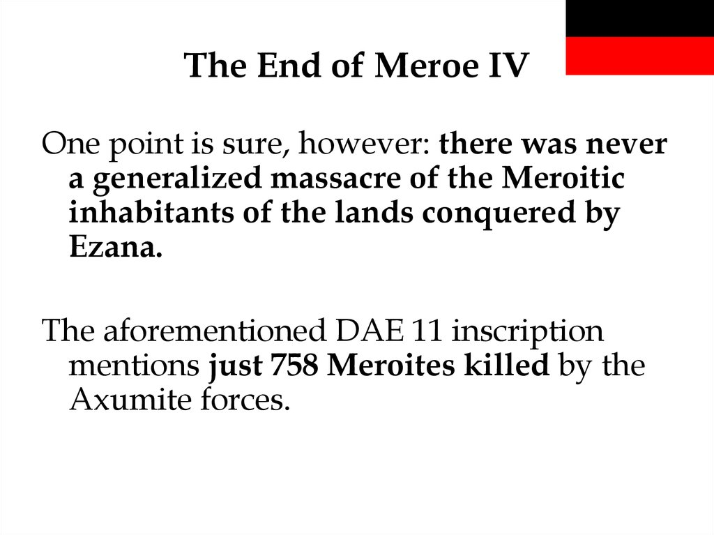 The End of Meroe IV