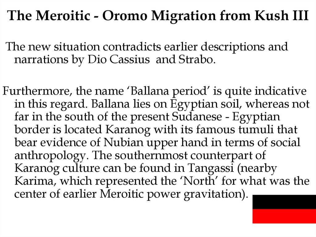 The Meroitic - Oromo Migration from Kush III