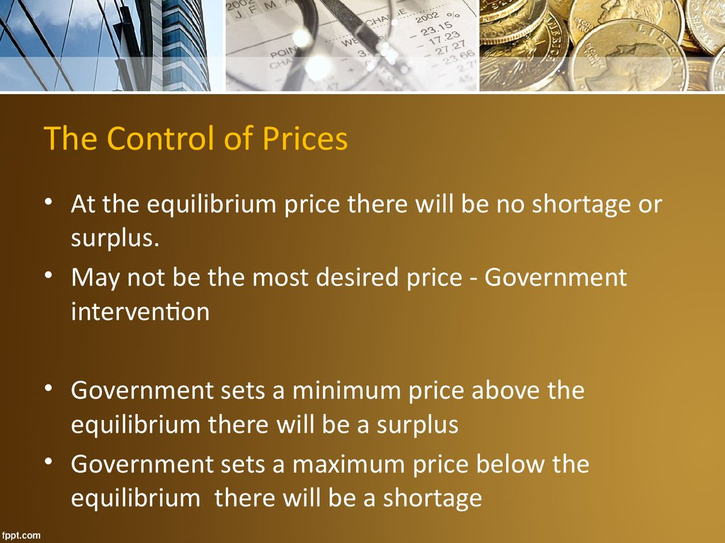 The Control of Prices