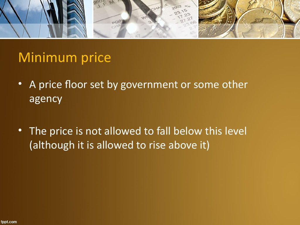 Minimum price