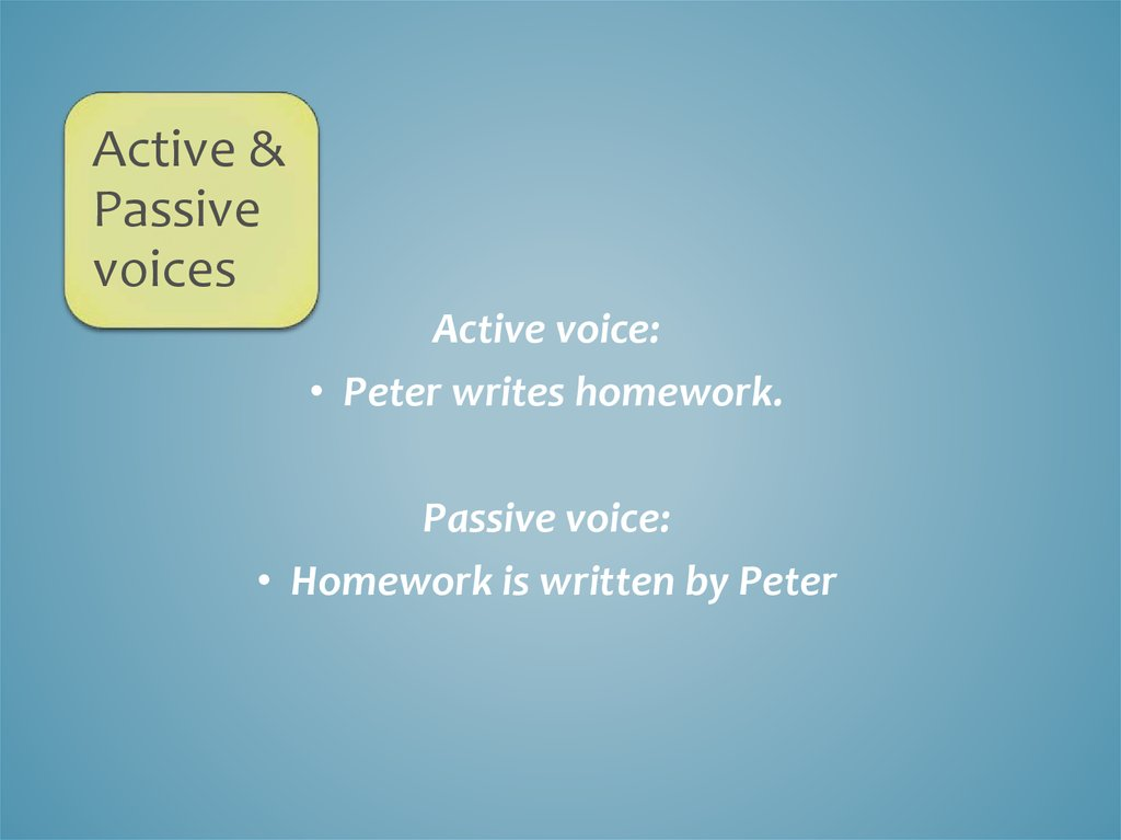 Active and passive voices - online presentation