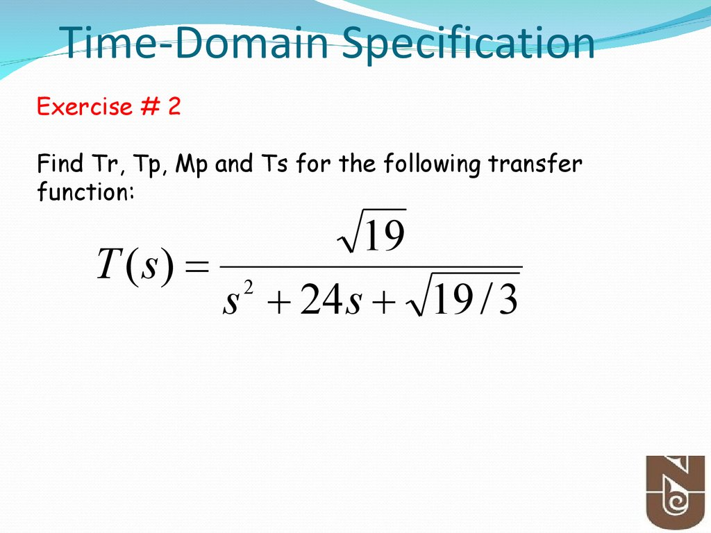 Time-Domain Specification