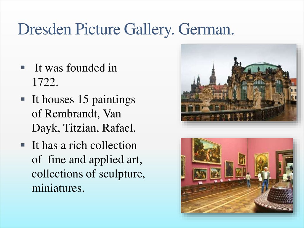 Dresden Picture Gallery. German.