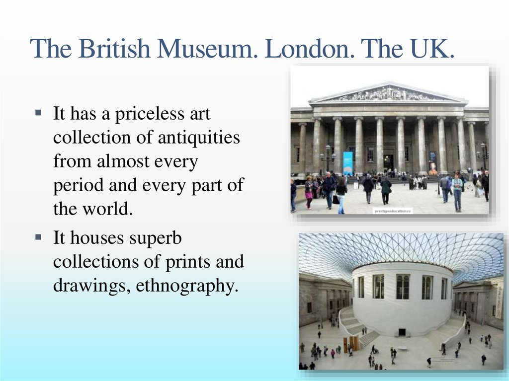 The British Museum. London. The UK.