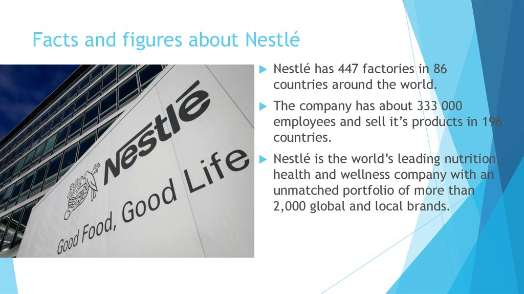 Facts and figures about Nestlé