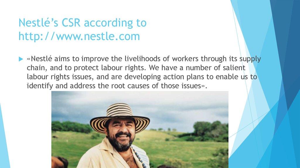 Nestlé and it's history - online presentation