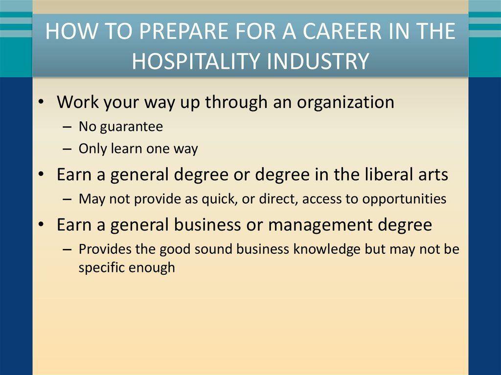 How To Prepare For A Career In The Hospitality Industry