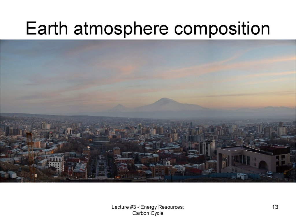Earth atmosphere composition