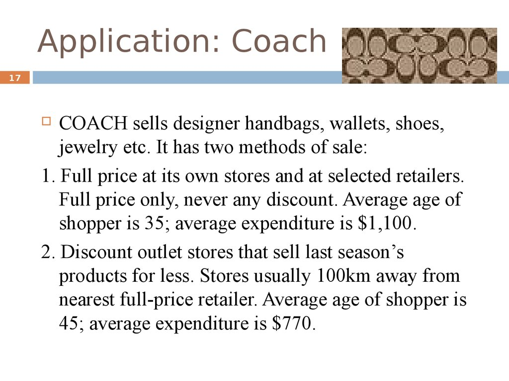 Application: Coach
