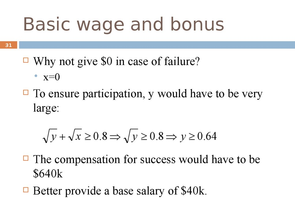 Basic wage and bonus