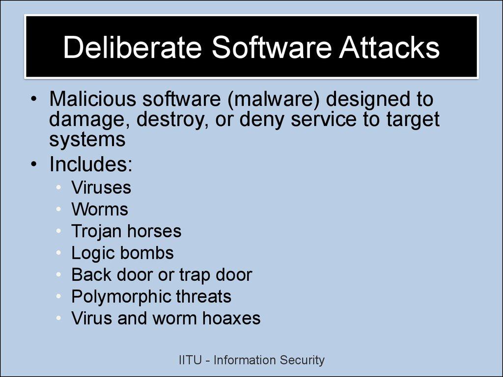 software attacks are