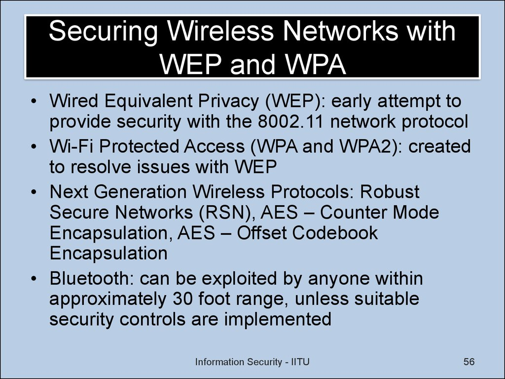 Securing Wireless Networks with WEP and WPA