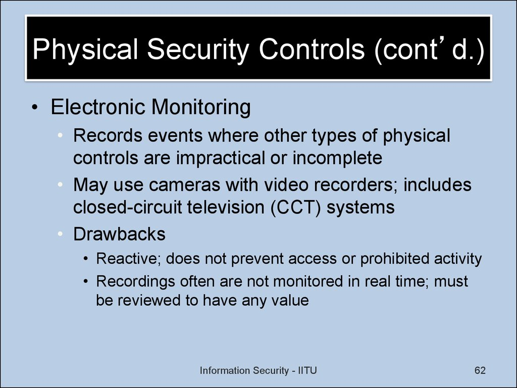 Physical Security Controls (cont'd.)