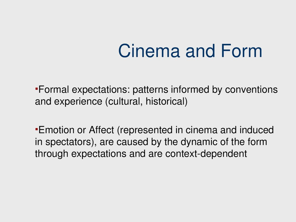 Cinema and Form