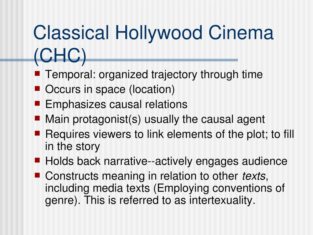 Classical Hollywood Cinema (CHC)