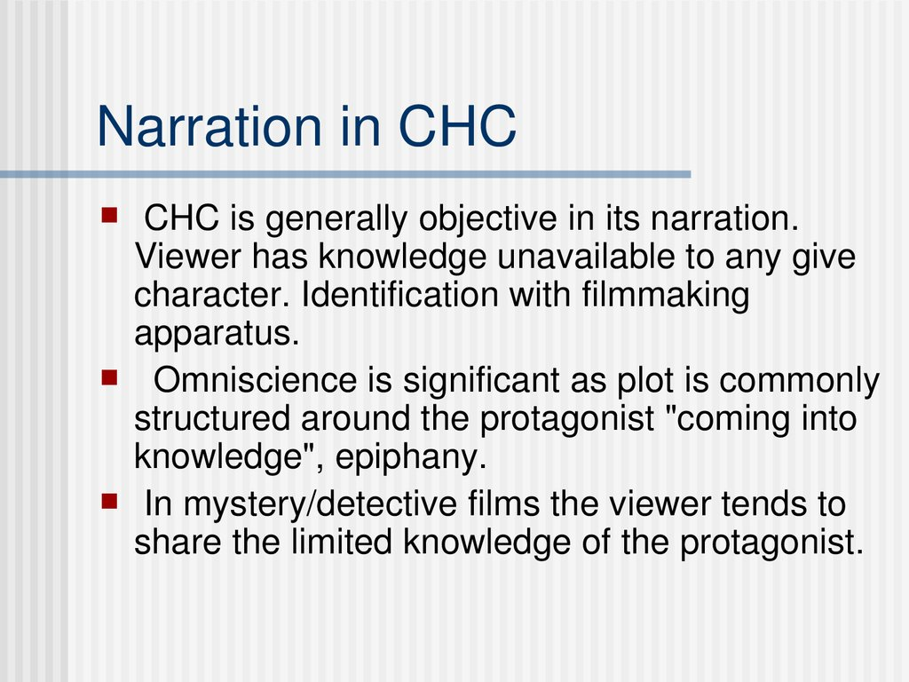 Narration in CHC