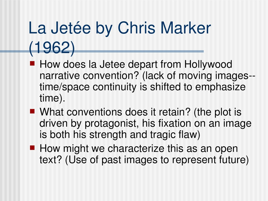La Jetée by Chris Marker (1962)